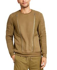 I.N.C. Men's Regular-Fit Pieced Zipper Sweatshirt, Created for Macy's