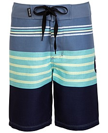 Big Boys Striped Colorblocked Swim Trunks