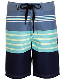 Hurley Big Boys Striped Colorblocked Swim Trunks