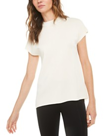 Anne Klein Mock-Neck Dolman-Sleeve Top