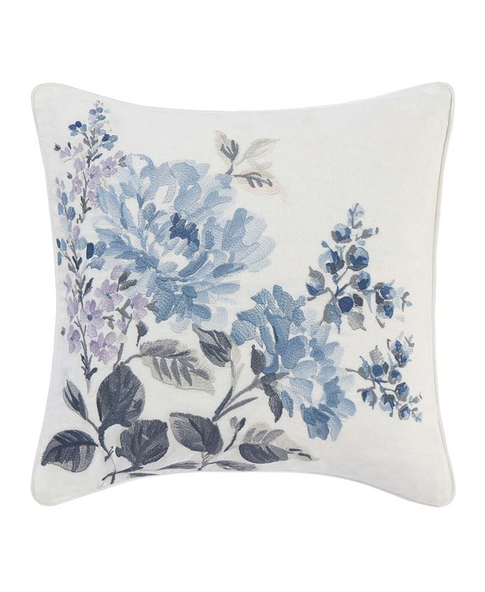 Laura Ashley - Chloe Floral Embroidered Square Pillow