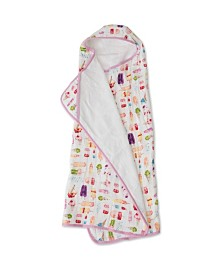 Little Unicorn Brain Freeze Cotton Muslin Big Kid Hooded Towel