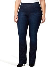 Plus Size Uplift Pull-On Demi Boot Jeans