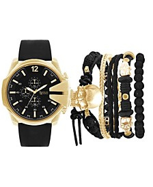 Men's Analog Digital Black Rubber Strap Watch 27mm