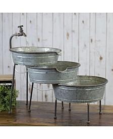 VIP Home & Garden Galvanized Metal 3-Tier Fountain