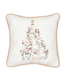 C&F Home Cat Tree Embroidered Pillow
