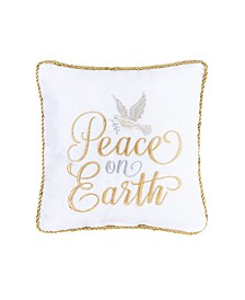 C&F Home Peace on Earth Pillow