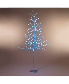 Everlasting Glow 6-Foot High Electric Tree with Crackle Ball Remote Controlled LED Lights