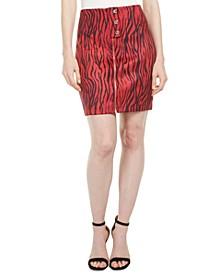 Rayanna High-Waist Zebra-Print Miniskirt