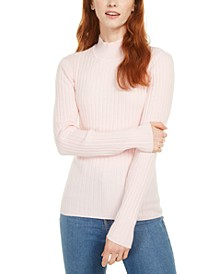 Ribbed Mock-Neck Top, Created for Macy's