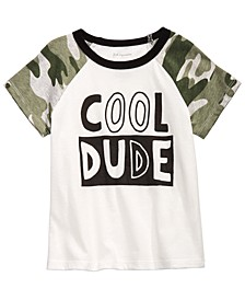 Baby Boys Cotton Cool Dude Camo Raglan T-Shirt, Created for Macy's