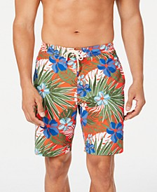 "Men's Baja Prickly Pear Tropical-Print 9"" Board Shorts"