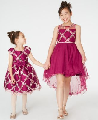 Little Girls Embroidered Fit & Flare Dress