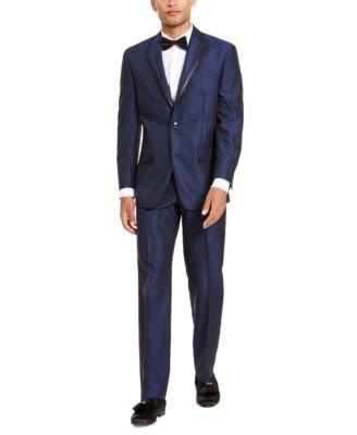 Men's Classic-Fit Blue Diamond Suit Separate Pants