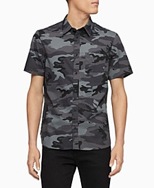 Men's Slim-Fit Camouflage Shirt