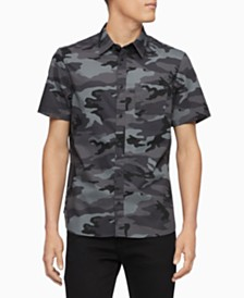Calvin Klein Men's Slim-Fit Camouflage Shirt