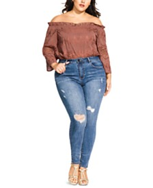 City Chic Trendy Plus Size Harley Skinny Ankle Jeans