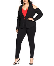 City Chic Trendy Plus Size Miss Holloway Jacket