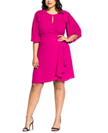 City Chic Trendy Plus Size Jolie Wrap Dress