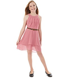 Big Girls Pleated Halter Dress