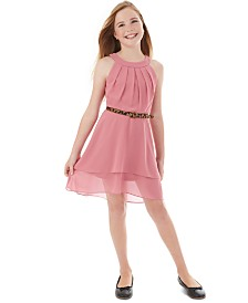 BCX Big Girls Pleated Halter Dress