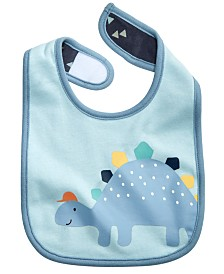 First Impressions Baby Boys Cotton Dinosaur Bib, Created for Macy's