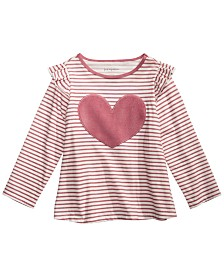 First Impressions Toddler Girls Cotton Heart T-Shirt, Created for Macy's