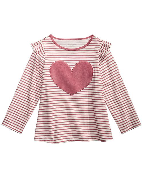 First Impressions Baby Girls Cotton Heart T-Shirt, Created for Macy's