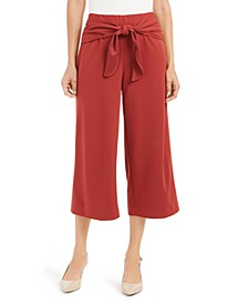 Tie-Front Culotte Pants, Created for Macy's