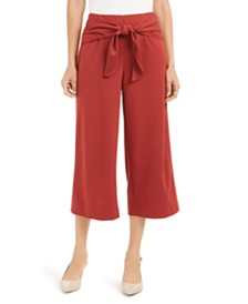 Alfani Tie-Front Culotte Pants, Created for Macy's