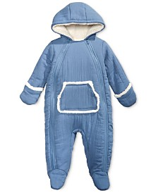 First Impressions Baby Boys & Girls Hooded Footed Bunting Snowsuit with Faux-Fur Trim, Created for Macy's