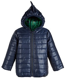 Toddler Boys Hooded Dinosaur Puffer Jacket, Created For Macy's