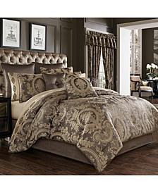 Five Queens Court Neapolitan California King 4 Piece Comforter Set