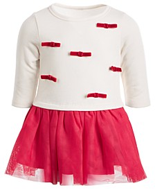 Baby Girls Bow & Tulle Tutu Dress, Created For Macy's