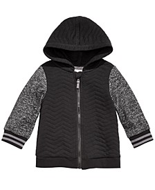 Baby Boys Quilted Zip Hoodie, Created for Macy's