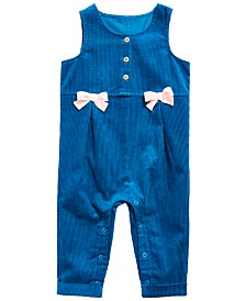 First Impressions Baby Girls Cotton Corduroy Coverall, Created for Macy's