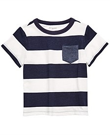 Baby Boys Striped Rugby T-Shirt, Created for Macy's