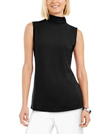 Alfani Mock-Neck Top, Created for Macy's