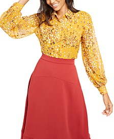 Printed Button-Front Top, Created for Macy's