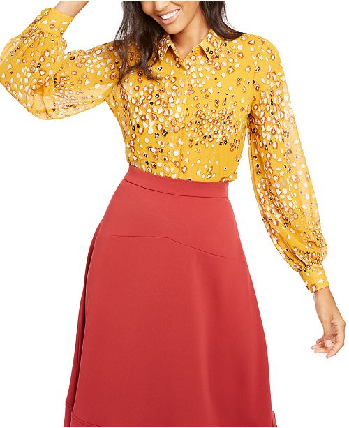 Alfani Printed Button-Front Top, Created for Macy's