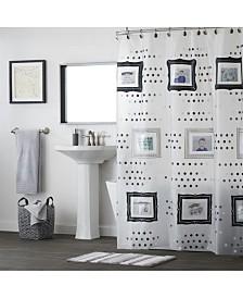 Saturday Knight Ltd Pocketz Peva Shower Curtain