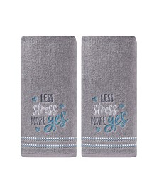 Ltd Less Stress More Yes 2 Piece Hand Towel Set