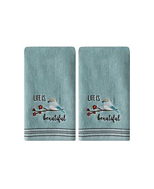 Saturday Knight Ltd Life is Beautiful 2 Piece Hand Towel Set