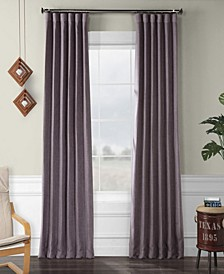 "Exclusive Fabrics Furnishings Faux Linen Blackout Curtain 84"" x 50"" Curtain Panel"