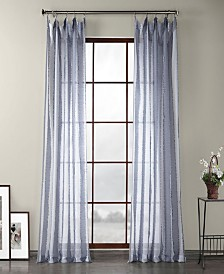 """Exclusive Fabrics Furnishings Patterned Linen Sheer Curtain 108"""" x 50"""" Curtain Panel"""