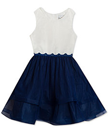 Rare Editions Little Girls Colorblocked Tulle Dress