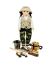 """18"""" Girl or Boy Doll Complete American Fishing Clothes"""