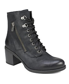 Dorian Lace-Up Booties