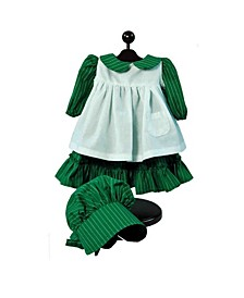 """Little House on the Prairie 18"""" Doll Clothes 3 Piece"""