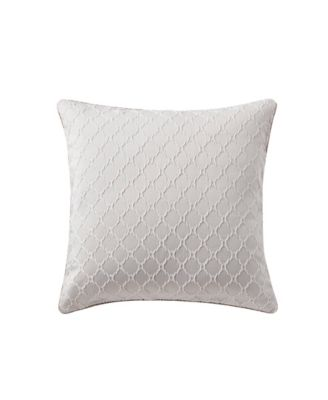 white Stanford Size One Pillow QUILTED Zippered Protector Sham